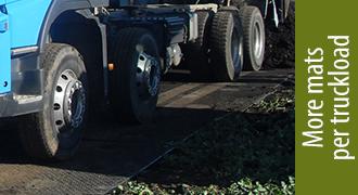 TuffTrak XL composite mats - more mats per truckload
